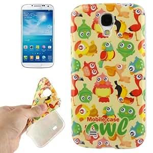 Galaxy S4 de protección: carcasa de silicona (TPU) de aves