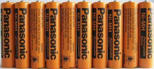 Nimh Cordless Telephone Battery - Panasonic HHR-75AAA/B-10 Ni-MH Rechargeable Battery for Cordless Phones, 700 mAh (Pack of 10)
