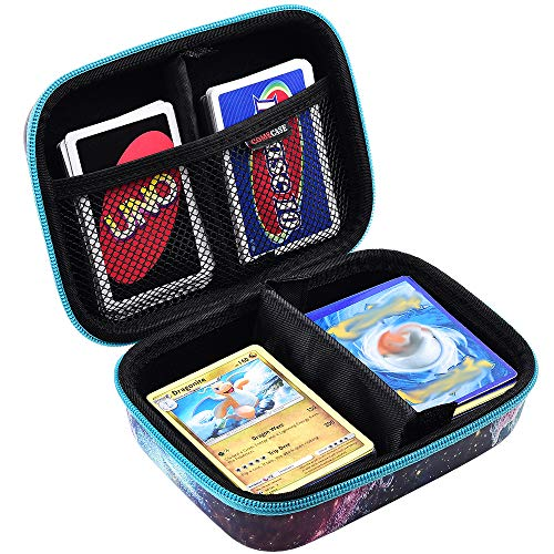 Removable Divider and Hand Strap Offered Card Game Case Storage Holds Up to 350 Cards Cards Holder Compatible for PM TCG Cards