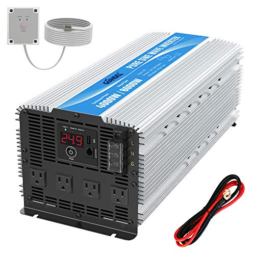 GIANDEL 4000W Heavy Duty Pure Sine Wave Power Inverter DC24V To AC120V With  4 AC Outlets With Remote Control 2.4A USB And LED Display on Galleon  Philippines