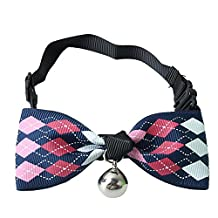 Adjustable Dog Cat Puppy Collars Polyester Bowtie Necktie necklaces Bowknot Pet Supplies With Bells
