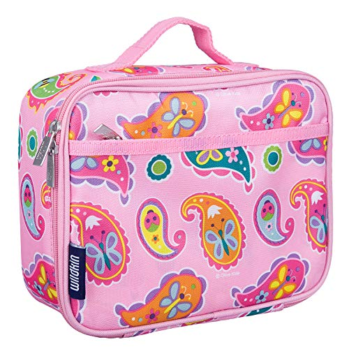 Wildkin Lunch Box, Insulated, Moisture Resistant, and Easy to Clean with Helpful Extras for Quick and Simple Organization, Perfect for Kids or On-The-Go Parents – Olive Kids Design – Paisley