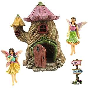 Fairy garden house accessories kit miniature fairies for Amazon uk fairy doors