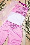 Kids Girls Arabian Princess Halloween Costume Belly Dancer Dress Up & Role Play (6-8 years, pink, white)