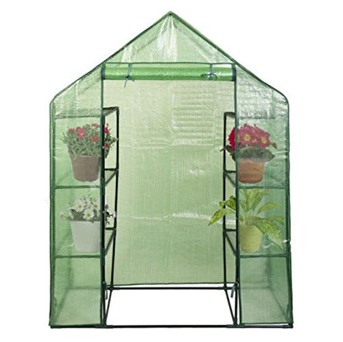Planter Walk-in Portable Greenhouse Happy Mini 8 4 Tier Green House Walk In Shelves Outdoor New