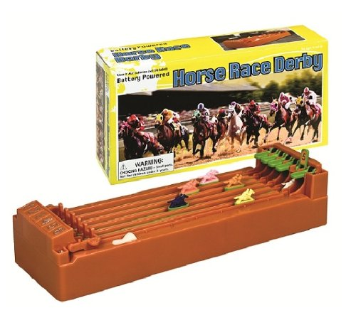 "WM Desktop Derby 6-Horse Racing Game - 10"" x 2.5"" x 5"""