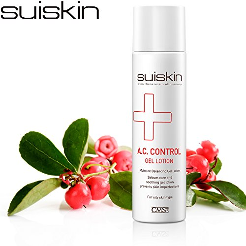 [SUISKIN] A.C. CONTROL GEL LOTION Blemish Oil Control Face Moisturizer Lotion for Oily Skin Men and Women Daily use