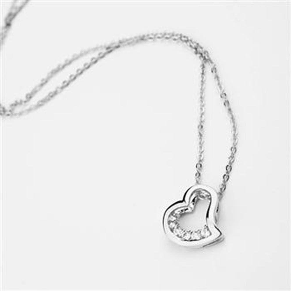 wuligeya Cadena del clavícula Zircon Collar en Forma de corazón Colgante