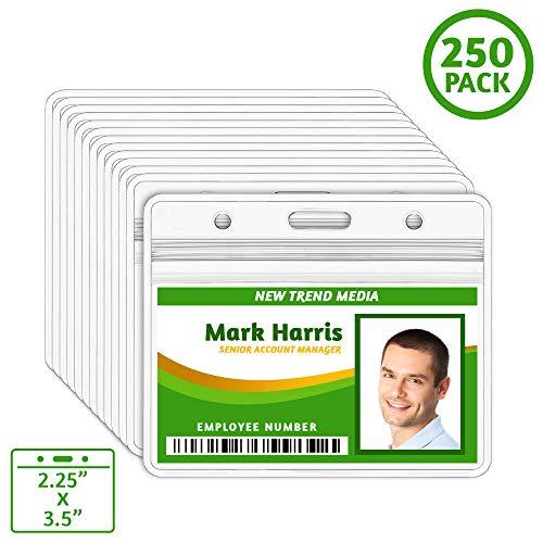 EcoEarth Horizontal ID Badge Holder (Sealable Fits 2.25