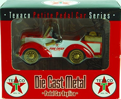 Crown Premiums - #PFEP01 - Texaco Petite Pedal Car Series - Fire Chief Fire Pumper Pedal Car Replica - COA - 1:12 Scale - Die Cast - Numbered - OOP / MIB - New - Collectible