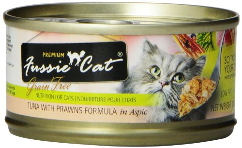 - Fussie Cat Premium Tuna With Prawns Cat Food - 24 - 2.82-Oz. Cans