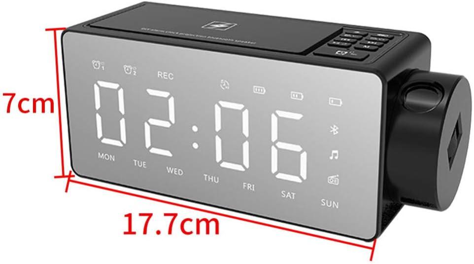 yaoyao Horloges murales Projection de Charge sans Fil LED