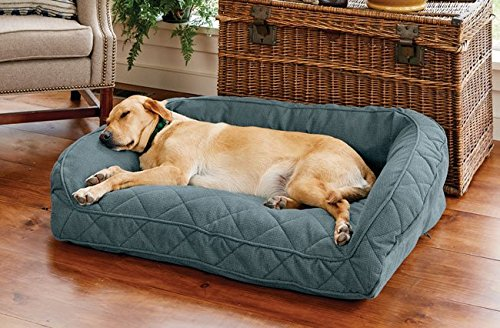 Orvis Comfortfill Bolster Dog Bed Medium Dogs Up To 18-27 Kg, Pacific bluee,