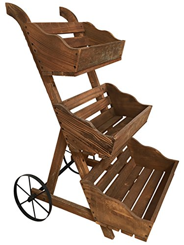 Leigh Country 3 Tier Garden Cart Planter by Leigh Country