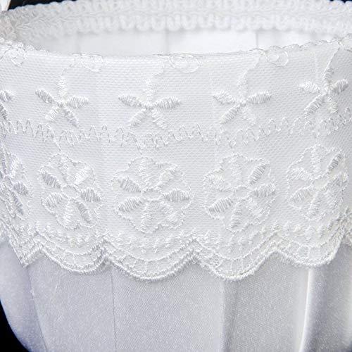 Agordo 3X(Satin Lace Embellished Wedding Flower Girl Basket-White Z6N9