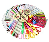 SiCoHome Scrapbooking Supplies Scrapbook Kit Scrapbooking Paper Scrapbooking Stickers DIY Photo Albums Craft Supplies And Diary Decor Scrapbook Accessories(Deluxe Set)