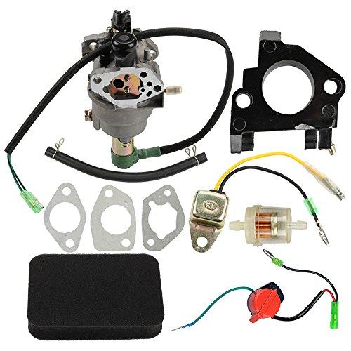 Butom Carburetor+Air Filter+Insulator+Oil Sensor For Honeywell HW5500 HW5000E HW6200 100924A 100925A 6036 6037 6151 5500 6875W 337cc 389cc Generator Valuable Price