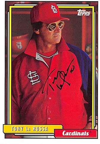 Tony La Russa Autographed Baseball Card St Louis Cardinals 2017 Topps 259 Baseball Slabbed Autographed Cards At Amazon S Sports Collectibles Store