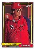 Tony La Russa autographed baseball card (St Louis Cardinals) 2017 Topps #259 - Baseball Slabbed Autographed Cards
