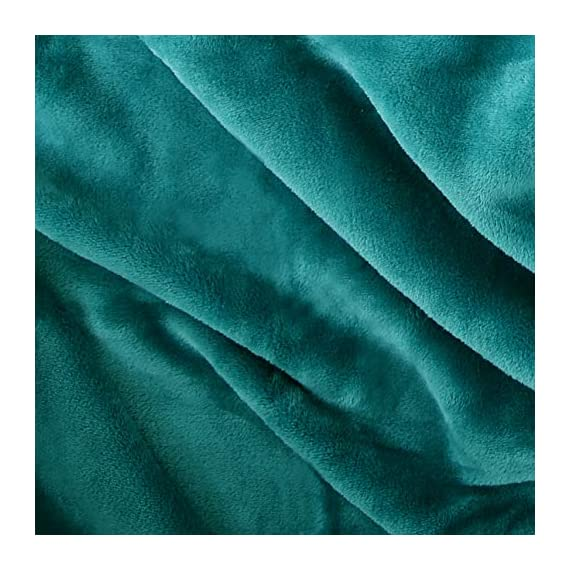 "Exclusivo Mezcla Luxury Flannel Velvet Plush Throw Blanket – 50"" x 60"" (Teal) - 280GSM FLANNEL FLEECE- The flannel fabric we choose is originally made from 100% microfiber polyester and brushed to create extra softness on both sides, the throw is designed to be simple but elegant. DURABILITY- The throw we offered is designed to be simple but elegant, this plush throw is super soft, durable, warm and lightweight. It's wrinkle and fade resistant, doesn't shed, and is suitable for all seasons. DECORATIVE- Throw features a velvet touch softness and rich and inviting designs, featuring a double-faced plush with graceful luster. Easily coordinates or enhances existing bedding or home décor. - blankets-throws, bedroom-sheets-comforters, bedroom - 51kvx2SpPoL. SS570  -"