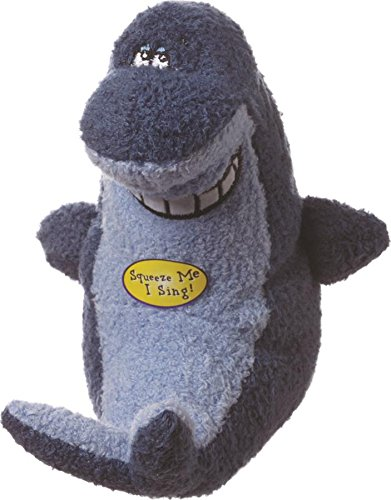 Multipet Deedle Dude Singing Shark Plush Dog Toy, 8-Inch, Blue (Singing Shark compare prices)