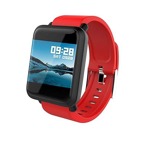 YSCYLY Smart Fitness Tracker Pulsera Pulsera Monitor de Ritmo ...