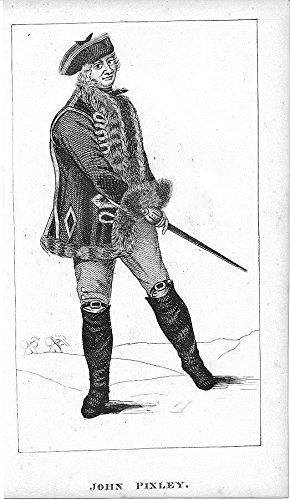 John Pixley 1820 fine original antique engraved folk art portrait