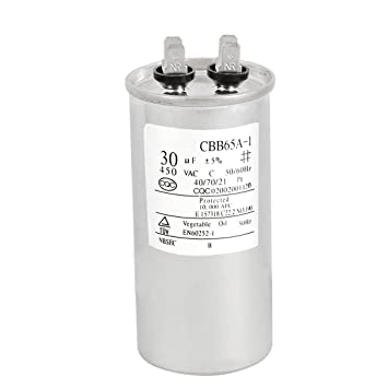 SODIAL (R) AC 450V 30uF Motor piezas de reparacion de capacidad para el acondicionador de aire del motor: Amazon.es: Bricolaje y herramientas