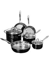 KitchenAid KCSS10OB Stainless Steel 10-Piece Cookware Set - Onyx Black