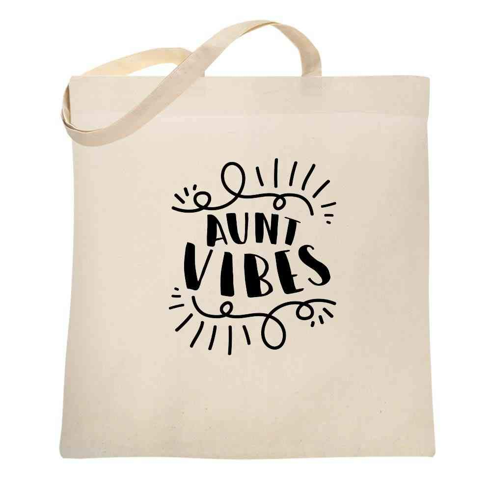 Aunt Vibes Auntie Cute Funny Mother S Day Canvas Tote Bag Shirts