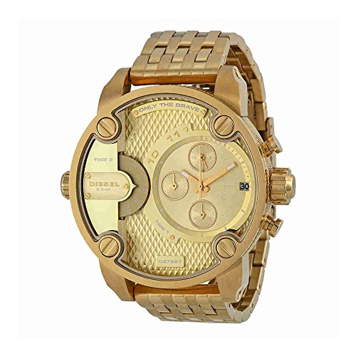 Diesel Men's Little Daddy Quartz Stainless Steel Chronograph Watch, Color: Gold-Tone (Model: DZ7287) -