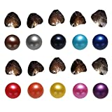 2018 New COOCLE Pearl Oyster, 10PC Freshwater Cultured Love Wish Oysters with Round Pearls Inside Mixed Color (7-8mm)