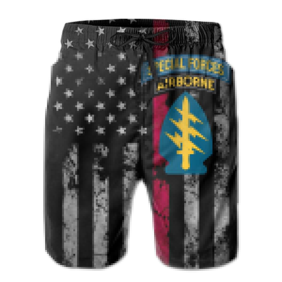 Trikahan Us Army Special Forces Mens Beach Shorts Swim Trunks Summer Shorts Sports Shorts