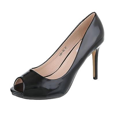 Ital Design Peeptoes Damenschuhe Pfennig /Stilettoabsatz High Heels Pumps