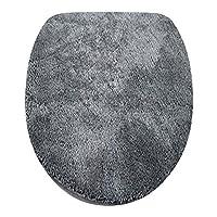 Fashionpillow Toilettendeckelbezug/WC-Stoffbezug - Mikrofaser-Klodeckelbezug, 15mm Flor, Gummizug, Oval ca. 47x50cm