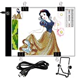 LOAZRE Diamond Painting Pad A4 LED Dimmable Light Board Kit with 4 Clips and 1 Detachable Stand, DIY Diamond Painting Kits, Led Sketch Copy Boards