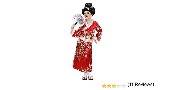 WIDMANN Disfraz Infantil de Geisha, Multicolor, 128 (Video Delta ...
