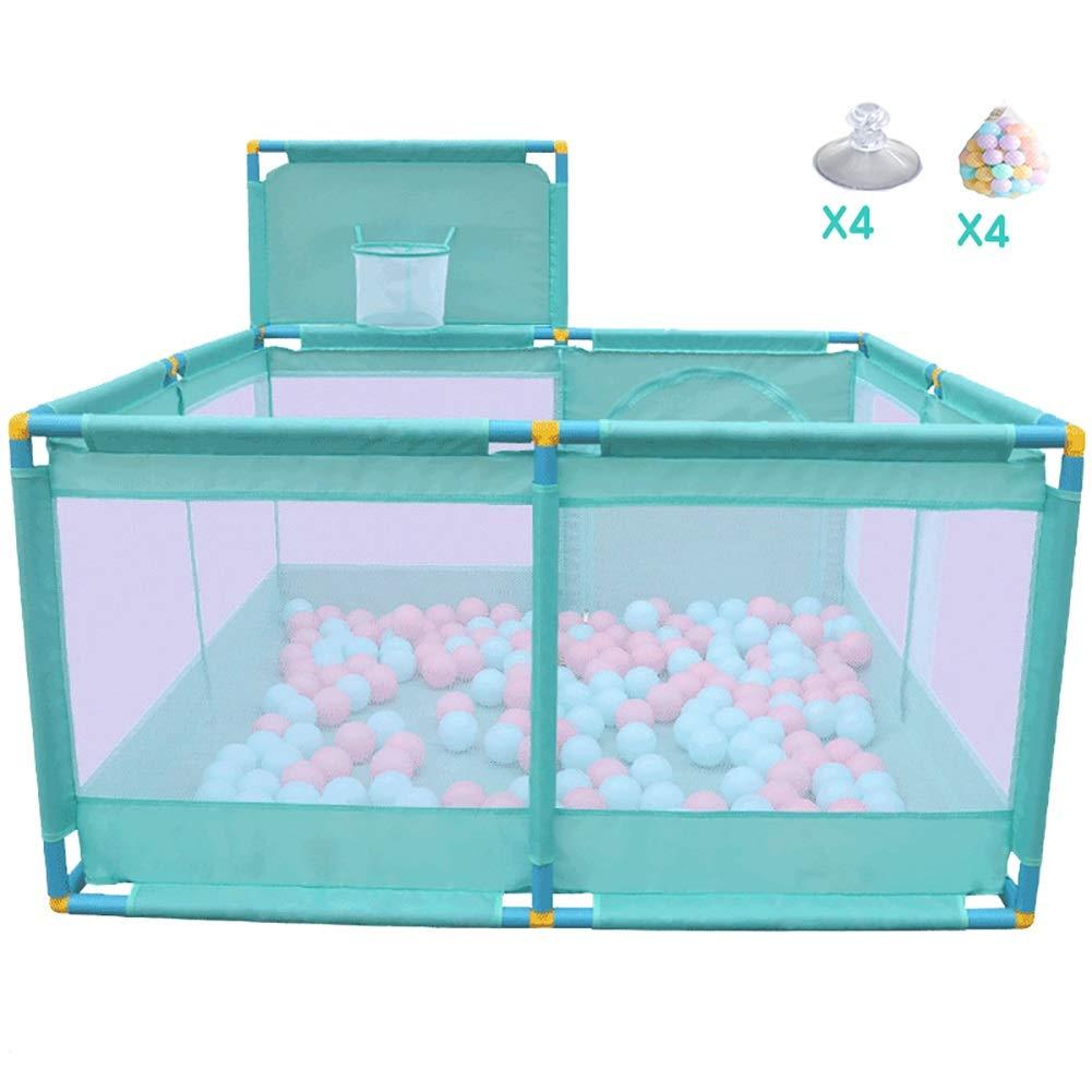 赤ちゃんの囲い バスケット、屋外キッズの遊び場屋内幼児ポータブルゲームペンと大型赤ちゃんのプレイペンセーフティフェンス、2色オプション (色 : A)  A B07K7K3C43