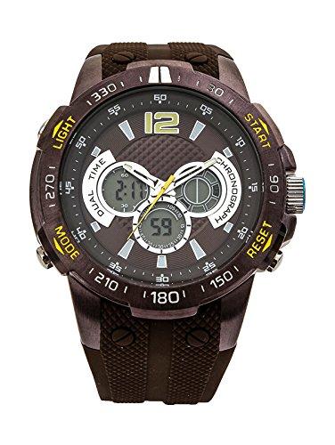 Reloj Aresso Sport Marrón en Acero Reloj para caballero Aresso Sport con esfera marrón con detalles en amarillo en acero marrón y correa de caucho mar: ...