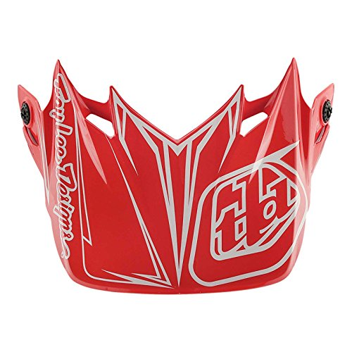 Lee Pinstripe Jersey - Troy Lee Designs SE4 Polyacrylite Pinstripe Replacement Visor Red
