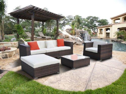 Goplus Wicker Rattan Outdoor Garden Furniture Coffee Sets Patio Sofa Chairs Couch Lounge Waterproof