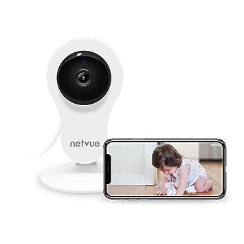 NETVUE Cámaras Vigilancia WiFi, Full HD 1080P Cámara IP Interior con Visión Nocturna, Detección