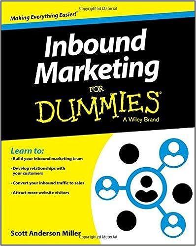 Book Inbound Marketing For Dummies by Consumer Dummies (2015-10-07)