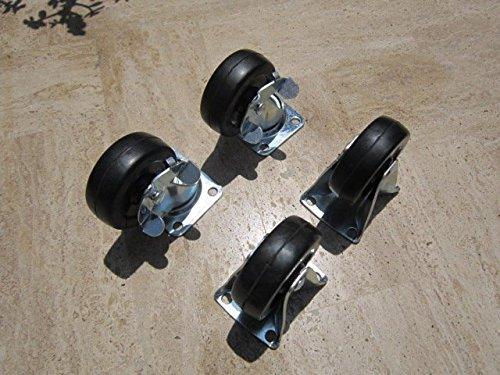 4 PC 2 1/2'' CASTER SET 2 PC SWIVELW/BRAKE AND 2 PC FIXED by TENKA 1