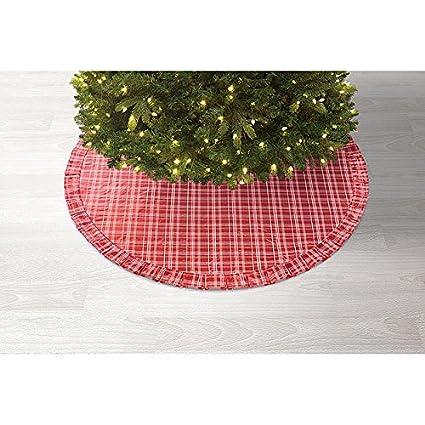 "Sandra by Sandra Lee 52"" Merry Holiday Christmas Tree Skirt - Red (Red  Plaid - Amazon.com: Sandra By Sandra Lee 52"