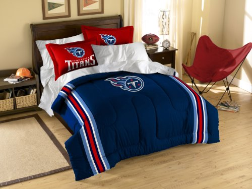 The Northwest Company Officially Licensed NFL Tennessee Titans Twin/Full Size Comforter with Sham Set
