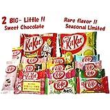 Random assortment of 14 Japanese Kit Kat , with 2 BIG LITTLE (Mellow Matcha & Chocolate) .