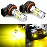 JDM ASTAR 3200 Lumens Extremely Bright 3030 Chipsets H11 H8 LED Fog Light Bulbs for DRL or Fog Lights, Gold Yellow