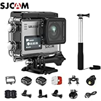 SJCAM SJ6 Kit Including Extra Battery, SJCAM Waterproof Self-stick SJ6 LEGEND Dual Screen 2″ LCD Touch Screen 2880×2160 Novatek NT96660 Panasonic MN34120PA CMOS 4K Ultra HD Sport DV Action Camera