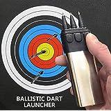 GlobalEDC Self Defense Shooting Darts Set, Ballistic Darts Gun Launcher Hunting Shooting Shooter Tactical Tool Silent Shootin